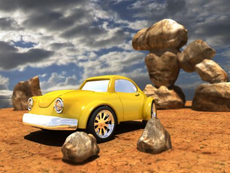 Yellow car by vozzz