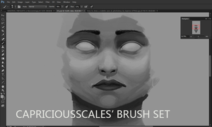 CapriciousScales' Photoshop Brush Set by CapriciousScales
