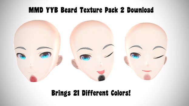 MMD YYB Beard Texture Pack 2 Download by dianita98