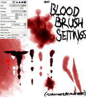 Paint Tool SAI: Blood Brush Settings *UPDATED!* by Idratherbeimperfect