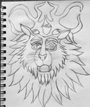 Antler lion by Glacierlioness
