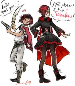 lil red duo doodle by Erinyedust