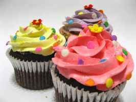 Buttercream frosted cupcakes by meechan