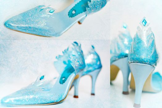 Elsa Shoes by LoliSakura