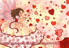 ACEO Heart Shower by JoannaBromley