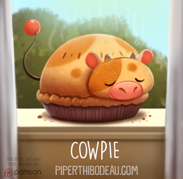 Daily Paint 1575. Cowpie by Cryptid-Creations