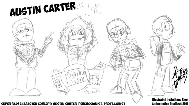 Super Rad! Character Concept: Austin Carter! by Anthamation