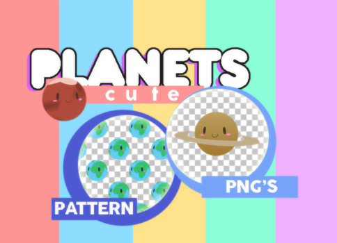 Cute Planets PACK by MoonSober