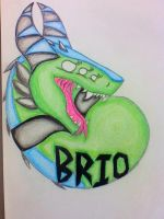 Brio-Fursuit Badge by puppykittons