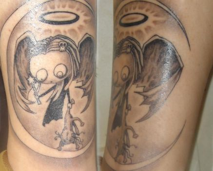 My tattoo on Ankle by XitlallyPalacios