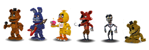 Fnaf 1 Characters Canon by Educraft