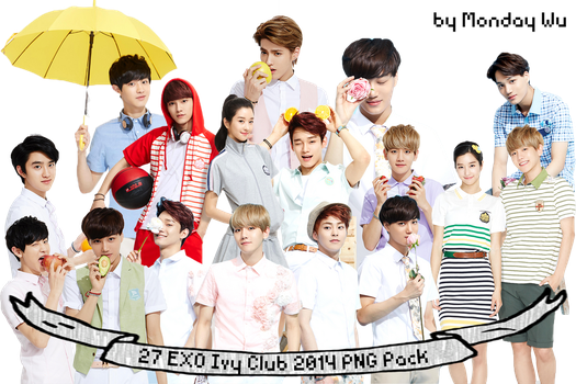 27 EXO Ivy Club 2014 Spring Summer PNG Pack by MondayWu