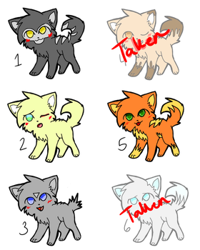 1 Point Warrior Cats Adopts by O-U-T