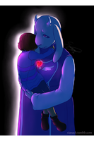 Undertale - Toriel and Frisk by Issane