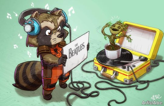 Rocky Raccoon by ArtistAbe