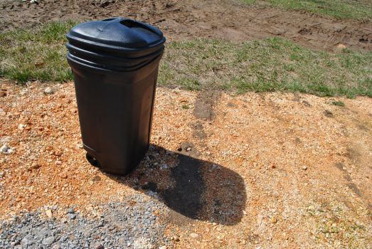 Trash can casting a shadow by BuffaloHeadroom
