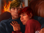 J and W Portrait by Aerorwen