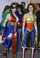 Injustice cosplay WW and Harley Quinn by AsherWarr