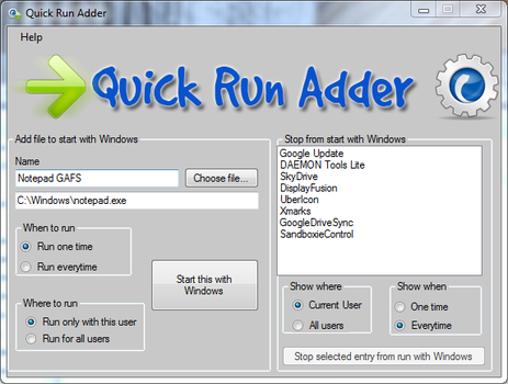 Quick Run Adder by gromichoafsystems