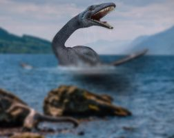 Loch Ness Monster.. by Alz-Stock-and-Art