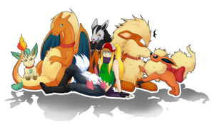 Pokemon team by Abby-desu