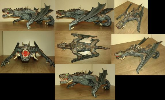 Game of Thrones Drogon sculpture by TKnockers