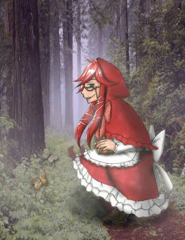 Grell as Red Riding Hood by Amano-Hoshi