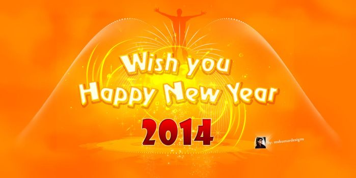 HAPPY nEW yEAR_2014_by_Mskumardesigns by mskumar
