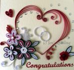 Quilled Engagement Card by JensQuilling