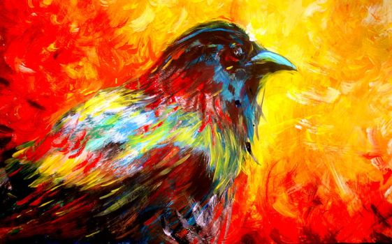 Bird painting by lilibloom24601