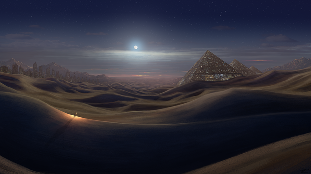 Land of the Ancients by artbypaulfisher
