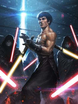Bruce Lee Jedi by ameeeeba