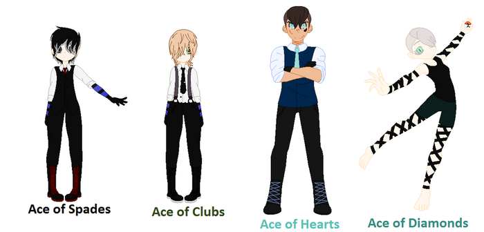 Gang Lineup (Aces) by LockedCheckeredHeart