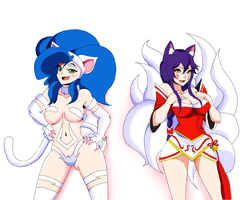 Felicia and Ahri by Gamesgb