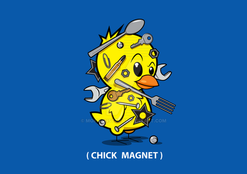 (Chick-Magnet) Tee Graphic by MokMonster