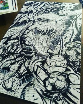 TURTLES IN TIME INKS by ARTOFSAPO