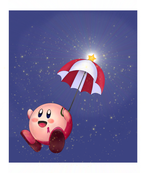 Parasol comes in - Kirby for charity by Andorada