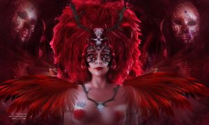 The red angel masquerade by annemaria48