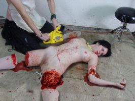 Naked Woman Slaughtered And Skinned Alive 109