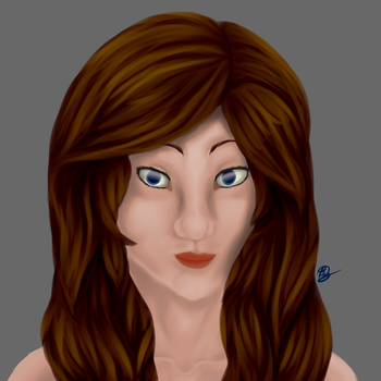 Painted Portrait practice by SterlingSpirit