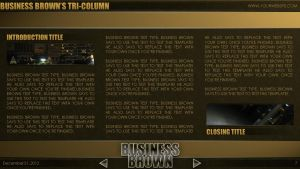 Business Brown - PowerPoint Template (Tri-Column) by CauseThought