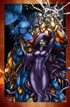 Thanos And Mistress Death By Pant Inked Small By G by Crayola-madness
