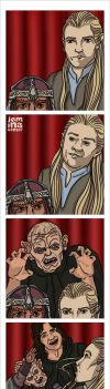 Photo Booth: Legolas + Gimli by jeminabox