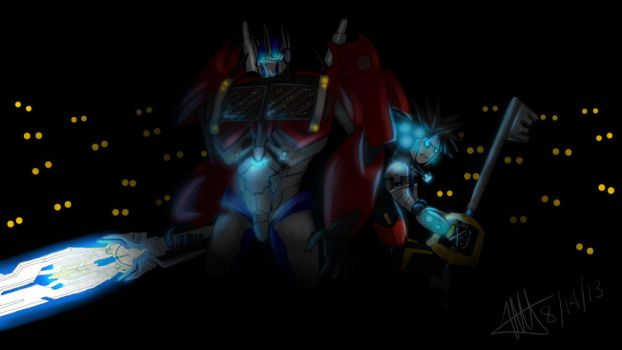 Request - Optimus Prime and Sora vs Heartless by MNS-Prime-21