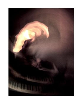 Funky Organ and Flaming Hand by linecut