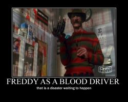 they pick the wrong guy to do the blood drive by Freddylover13