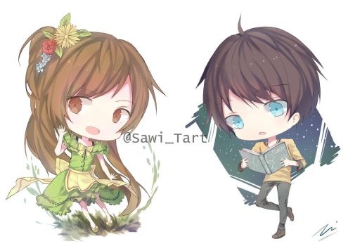 Gardenia and Starr (Chibi ver) by SawiTart