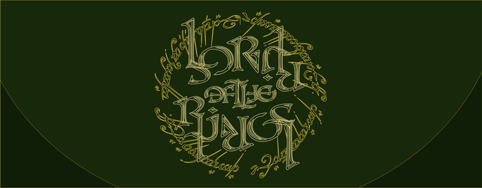 'Lord of the Rings' Rotational Ambigram by JZumun