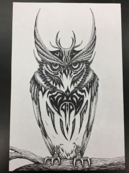 Sharpie Owl by nitrapalo