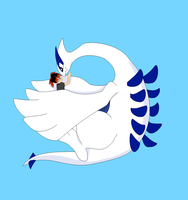 Lugia Comes To Young Raven's Rescue by ShadowFireDcon643